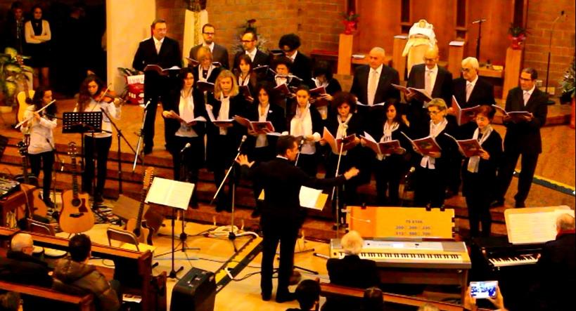 Schola cantorum presso la Chiesa di S.Lucia - Concerto di Natale 2015